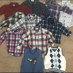 Other - Fall/Autumn button down long sleeves 12-18mos boy